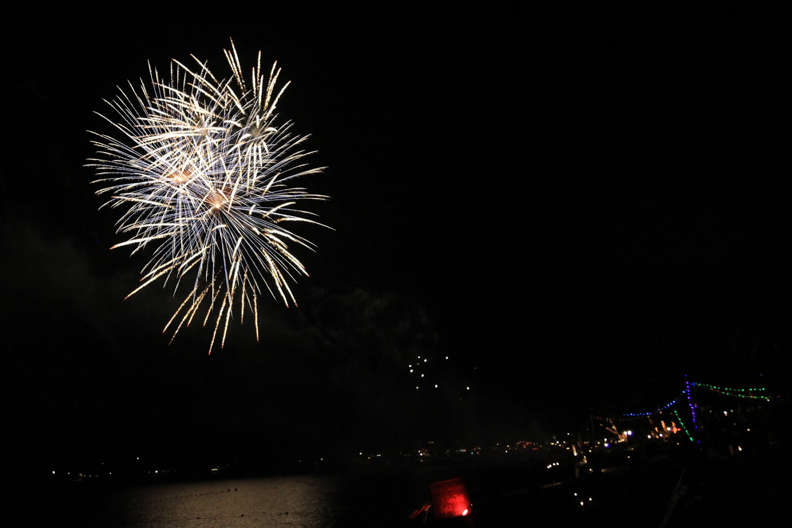 fireworks at the beach koh samui