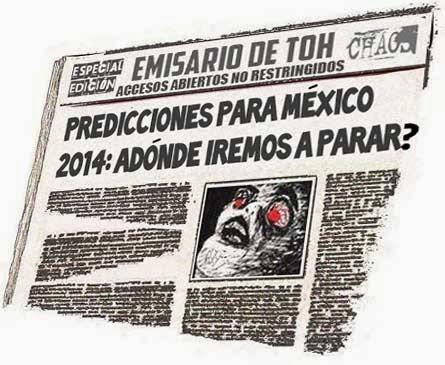 Portada periódico cómic - Predicciones para México 2014