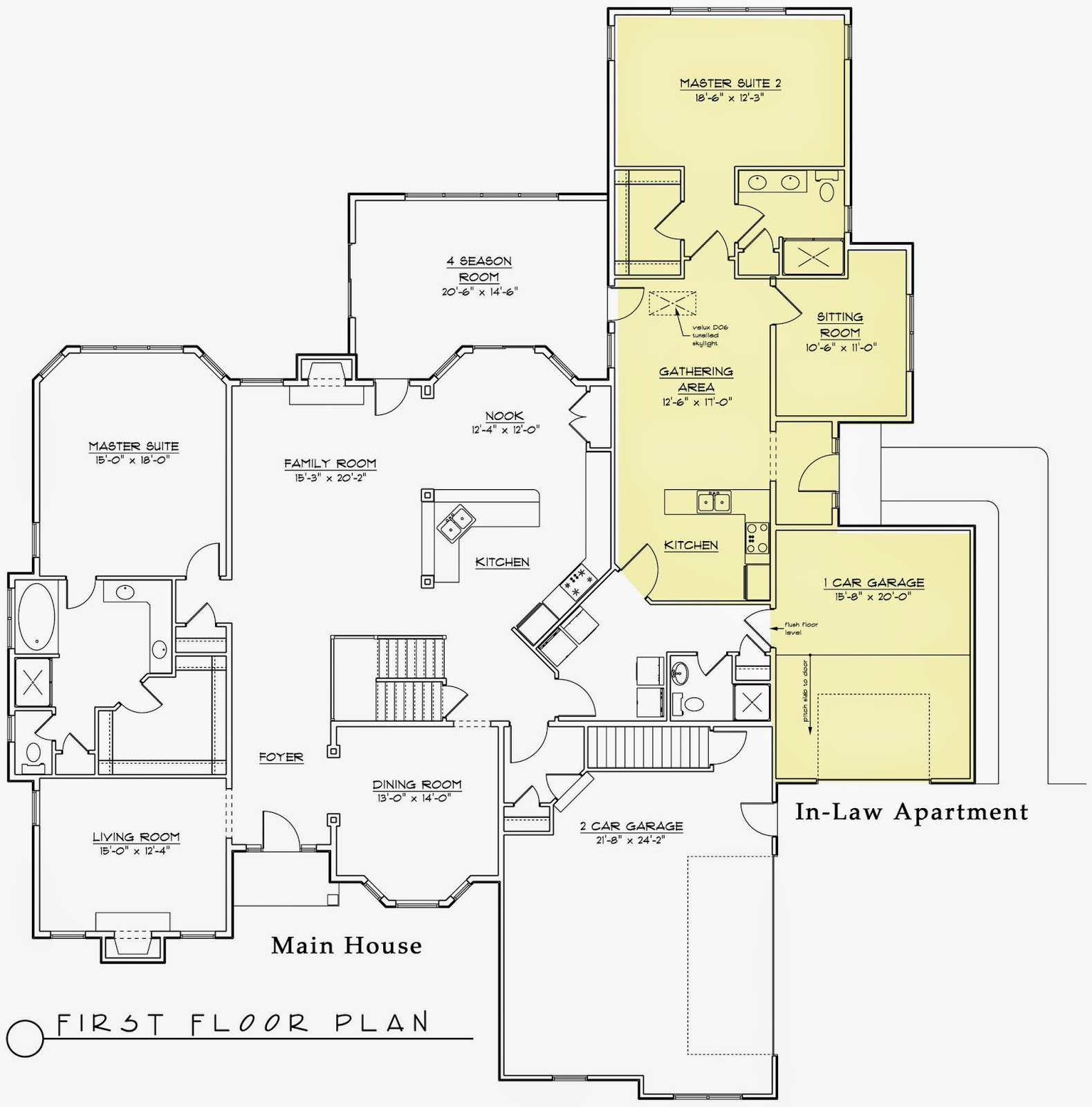 Hodorowski homes rising trend for in law apartments for Floor plans with inlaw apartment
