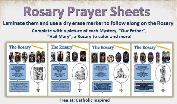 Free Coloring Pages Of Rosary Worksheet