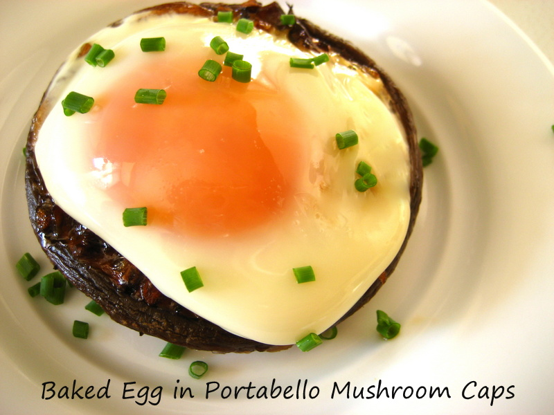 recipe eggs baked in baked mushroom caps lined with baked eggs in ...