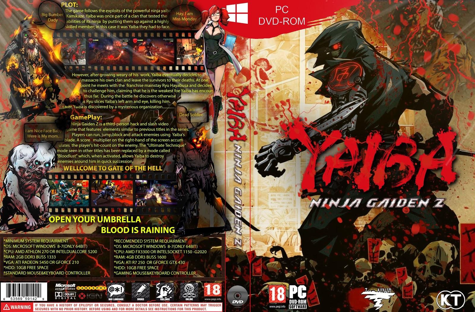 Capa Yaiba Ninja Gaiden Z PC