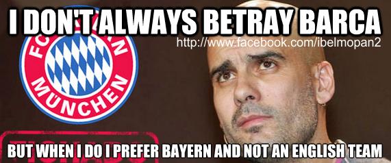 Pep guardiola meme to bayern