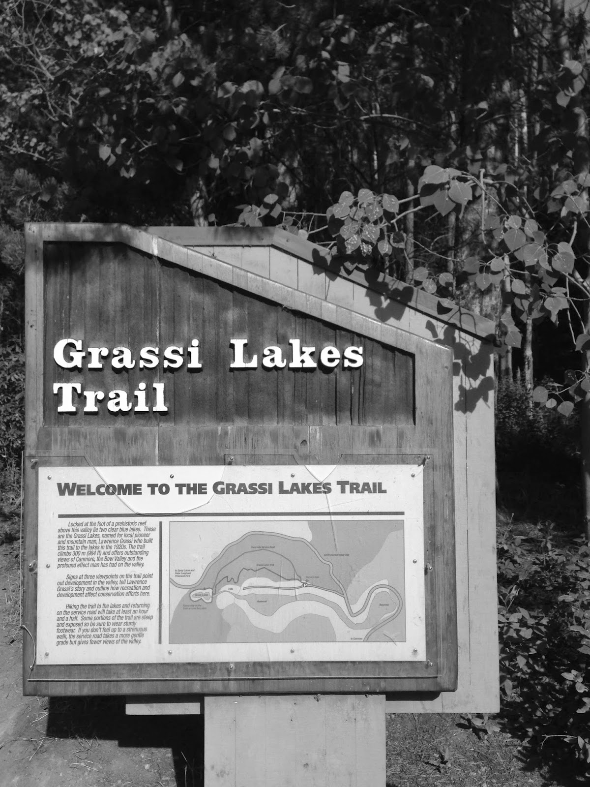 road trip sunday:  grassi lakes canmore