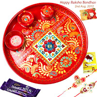 Designer Rakhi Pooja Thali