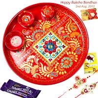 Designer Rakhi Pooja Thali