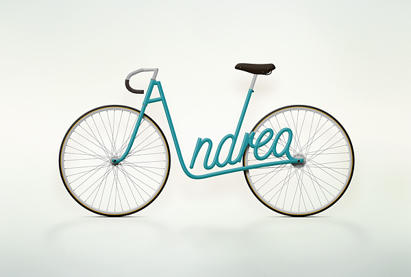 Amazing Text in Bicycle
