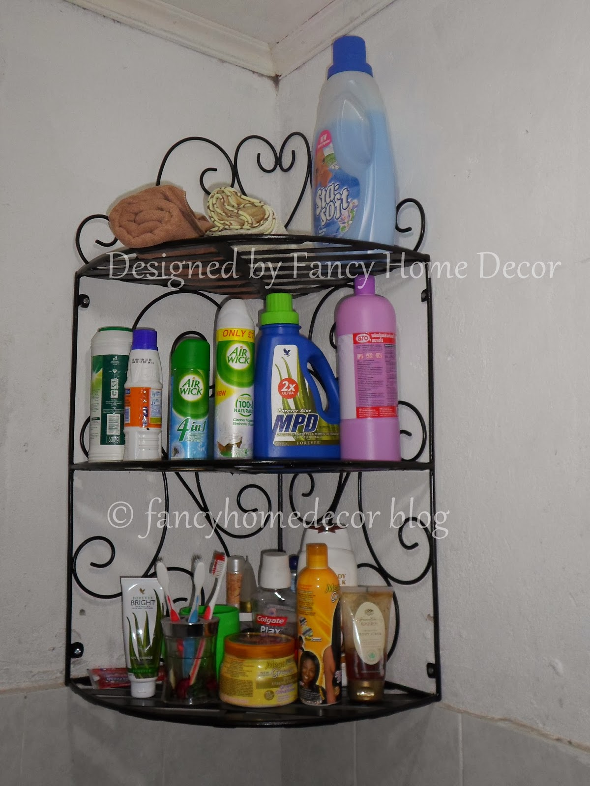 MY PROJECT: KITCHEN SHELVES, BATHROOM CORNER SHELF & CURTAIN HOLDBACKS
