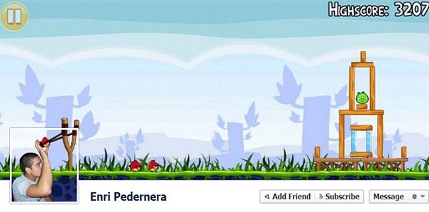 creative angry bird facebook cover