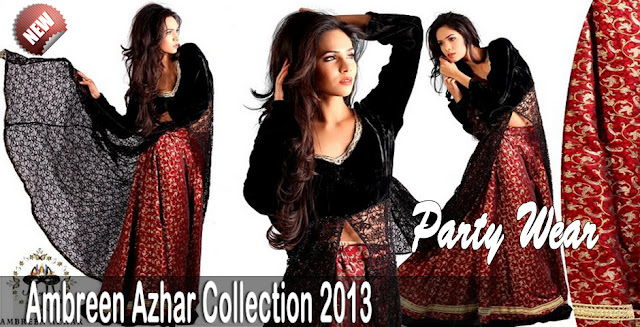 Women's Party Wear Clothes By Ambreen Azhar 2013