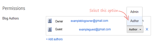 Assign previlege to the new Guest Blogger