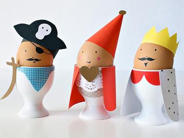 Забавна украса на великденски яйца за деца