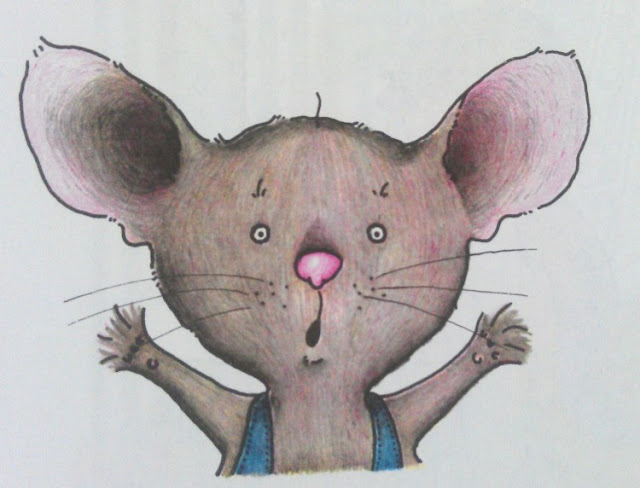 Ilustración del libro de Laura Numeroff If You Give a Mouse a Cookie. Ilustración de  Felicia Bond-quién se ha llevado mi cookie