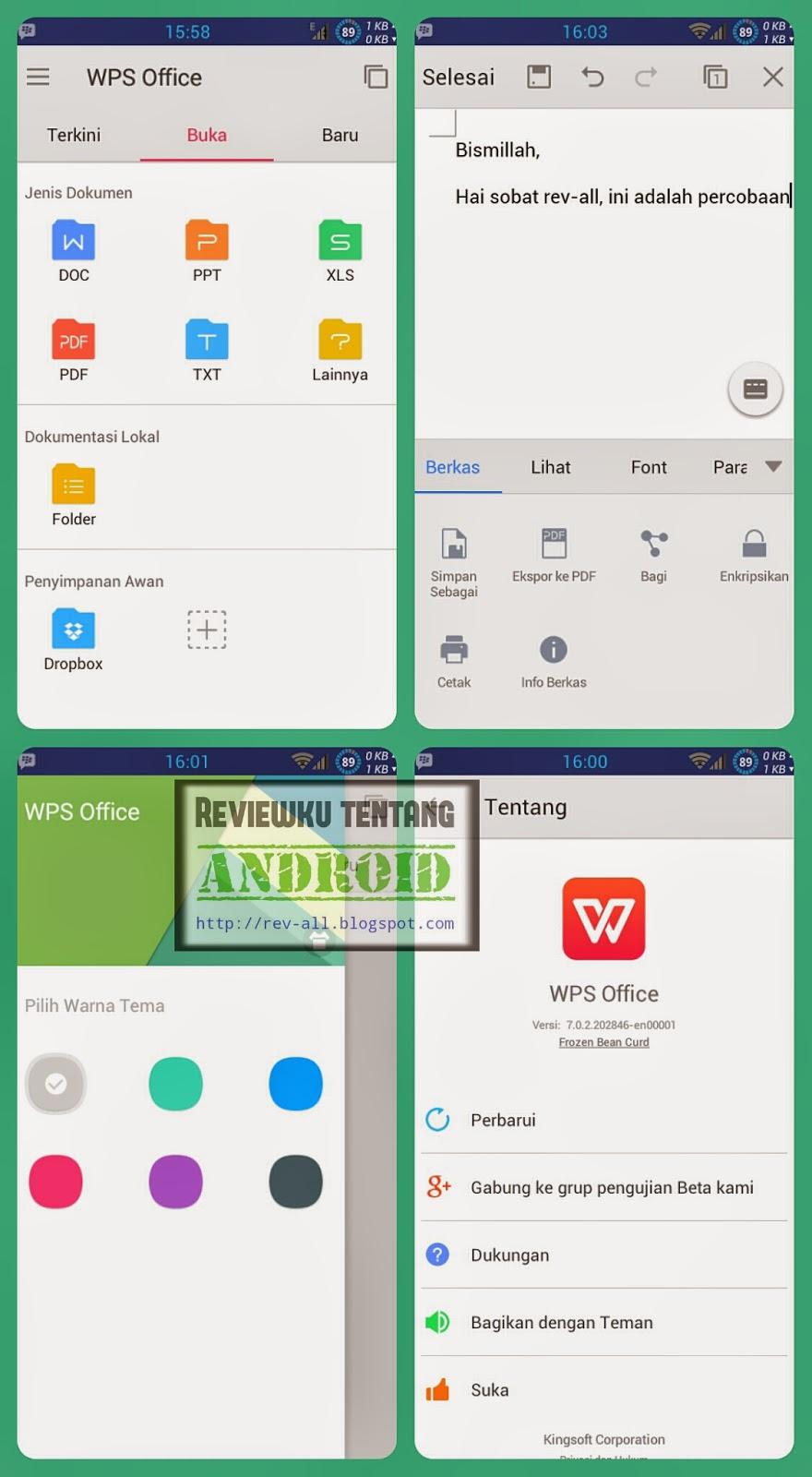 Tampilan aplikasi WPS OFFICE + PDF (Kingsoft Office) - membuat dan membuka dokumen jadi mudah dan gratis di android (rev-all.blogspot.com)