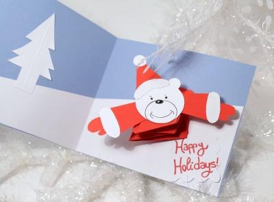 perlillapets diy a cute christmas card with polar bear