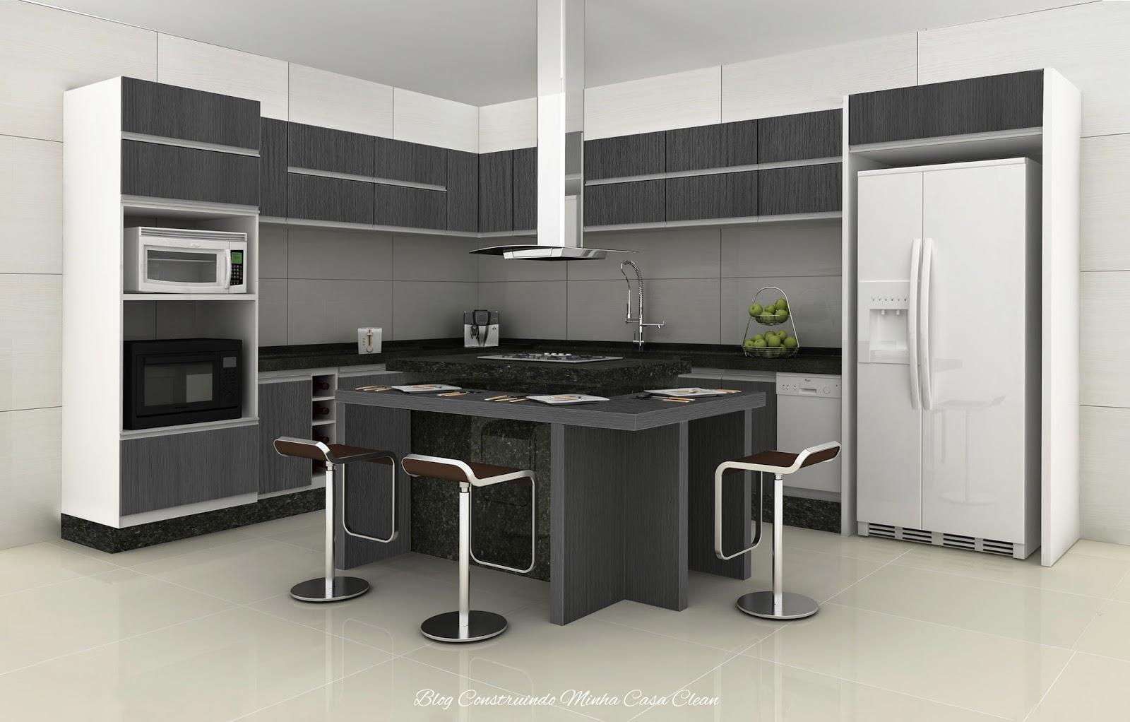 Cozinha Ilha Vermelha Beyato Com V Rios Desenhos Sobre Id Ias  ~ Cozinha Cinza Com Vermelho