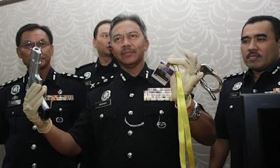 barang rampasan polis