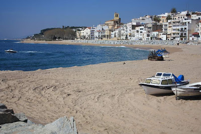 Les Barques Beach in Sant Pol de Mar