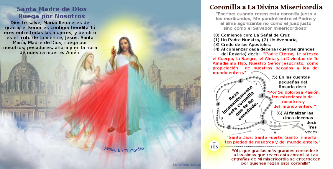 imagen de jesus y maria con texto del diario