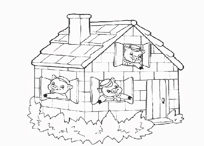 The three little pigs coloring pages | Free Coloring Pages and ...
