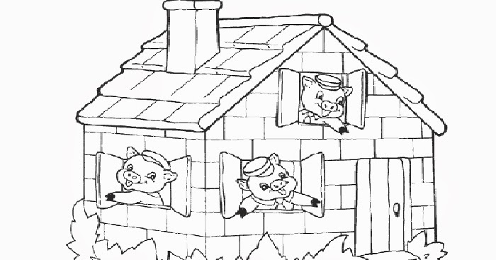 The Three Little Pigs Coloring Pages