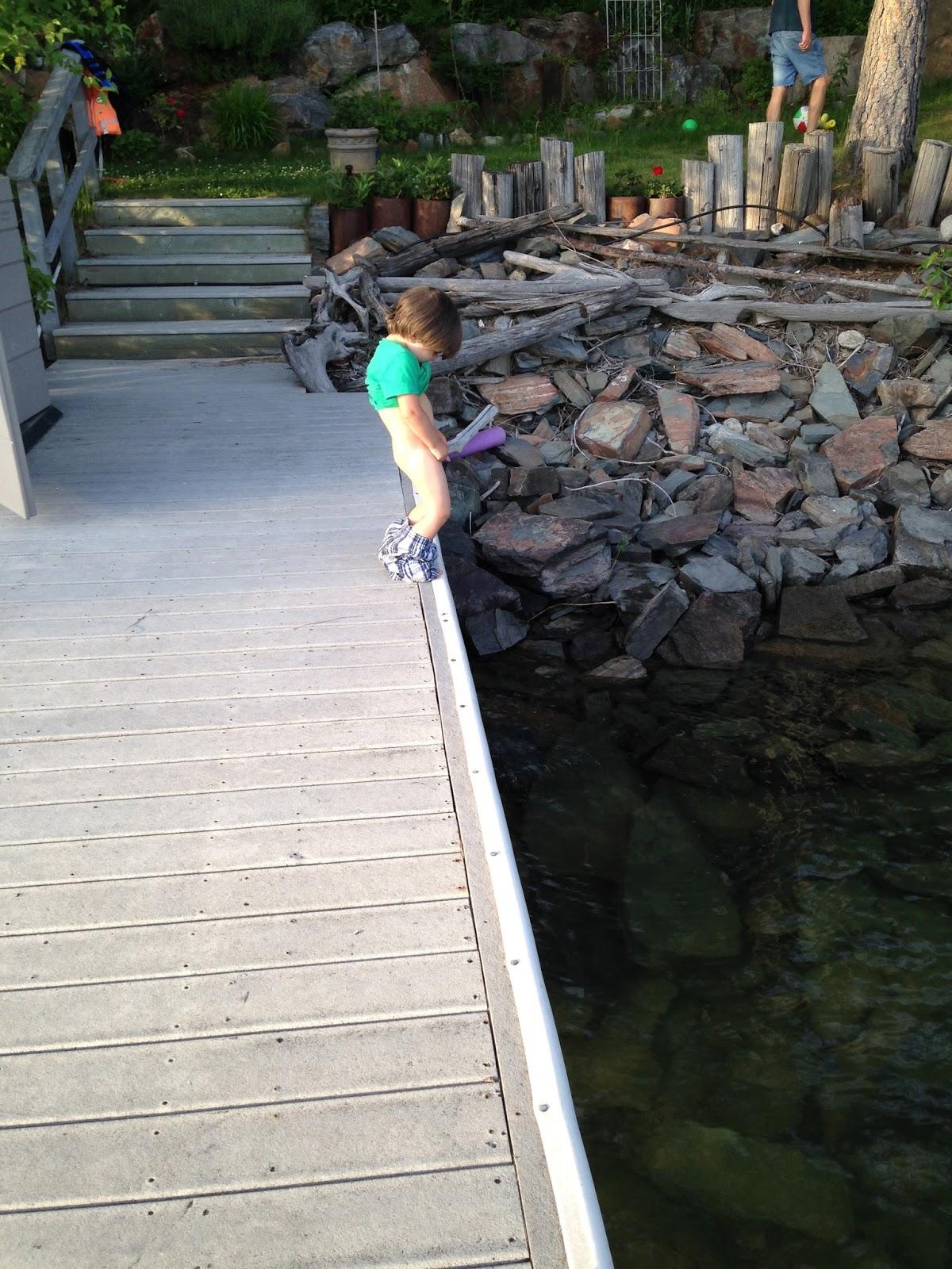 Regret, Peeing into lake