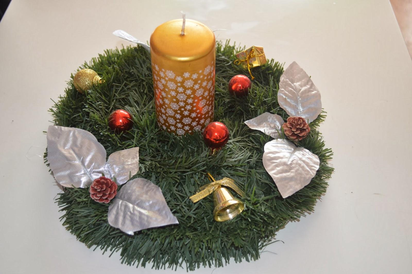 Las manualidades de cristina centros de mesa para navidad for Centro mesa navidad manualidades