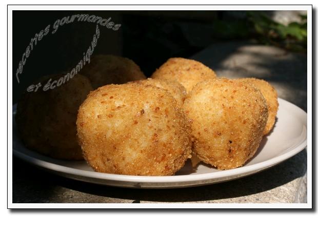 Recettes gourmandes et conomiques les arancinis - Cuisine sicilienne arancini ...