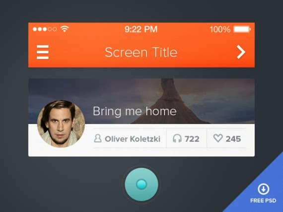 Simple UI – Free PSD included