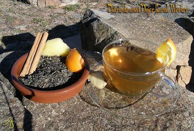 Té aromático con manzana y canela