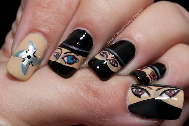 Ninja Nail Art China Glaze Kalahari Kiss Japan