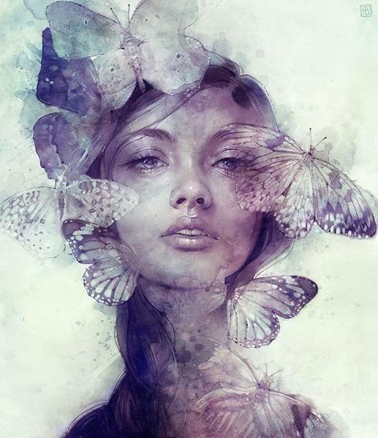 Anna Dittmann escume deviantart ilustrações mulheres lirismo surrealismo