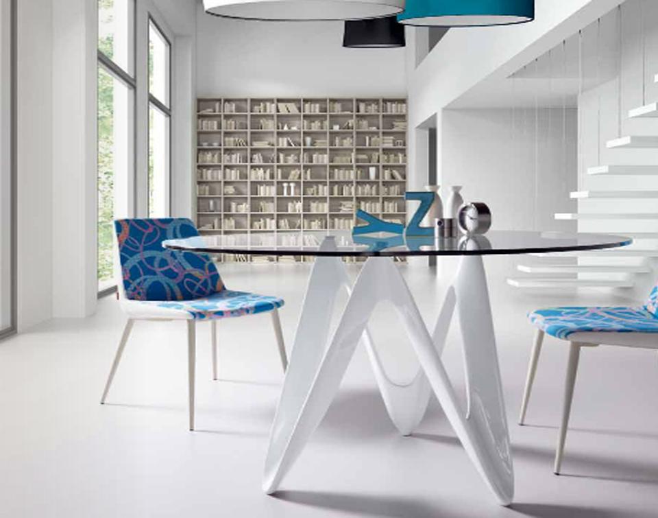 Mesas para comedor extensibles rectangulares mesa cristal - Mesa comedor cristal redonda ...