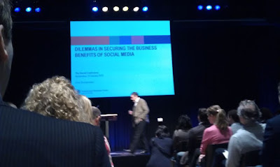 Emerce social conference 2012 in Amsterdam with a presentation from Fons Trompenaars