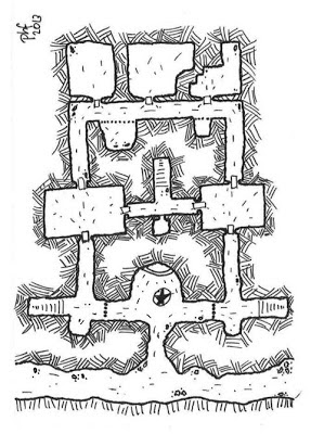 Map of Garrik's Landing (Level 1)