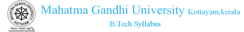 MG University B.Tech Syllabus