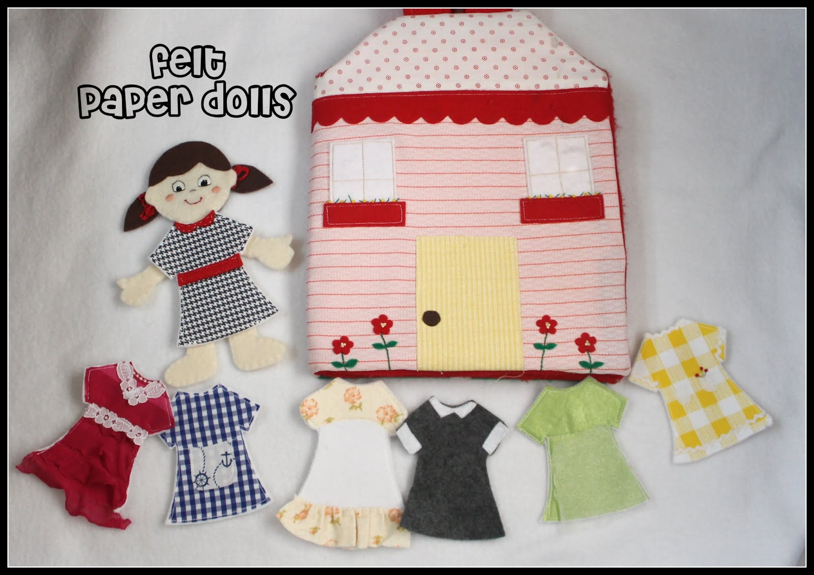 Felt paper dolls peek a boo pages patterns fabric more for Felt dress up doll template