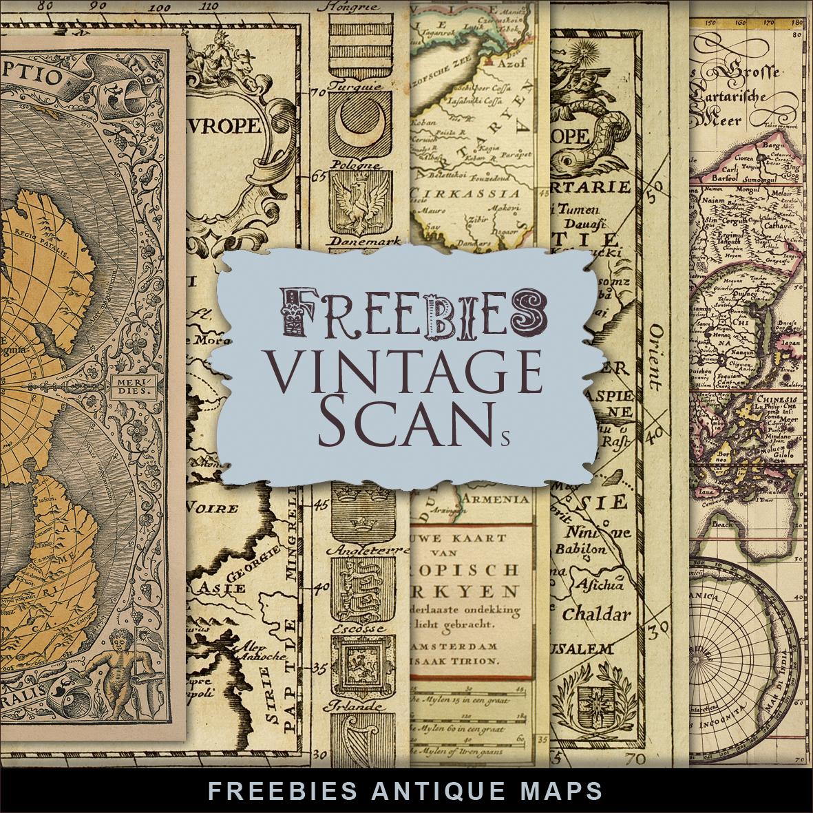 Antique Map: Freebies Kit Of Antique Maps:Far Far Hill