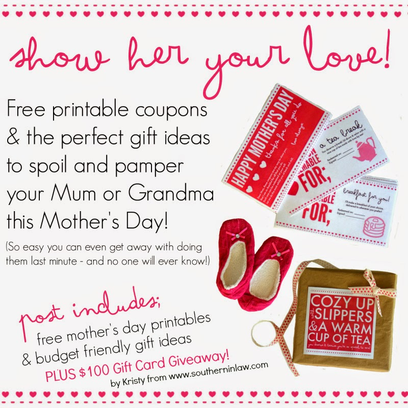 Show Her Your Love This Mother's Day  Free Mother's Day Printables and Last Minute Mother's Day Gift Ideas