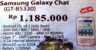 harga Galaxy Chat