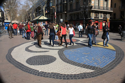 Work of Art of Joan Mirò on La Rambla
