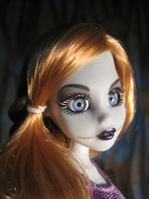 Once Upon a Zombie Rapunzel, detail shot of glass eyes.