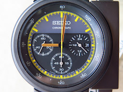 SEIKO CHRONOGRAPH ALIENS BLACK DIAL BLACK CASE DESIGN BY GIUGIARO - LIMITED EDITION-BRAND NEW WATCH