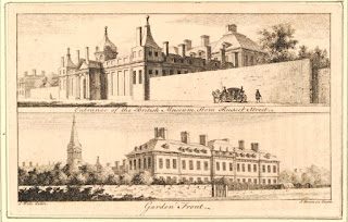 Entrance of the British Museum    from Russell Street; Garden front (1761)    © Trustees of the British Museum