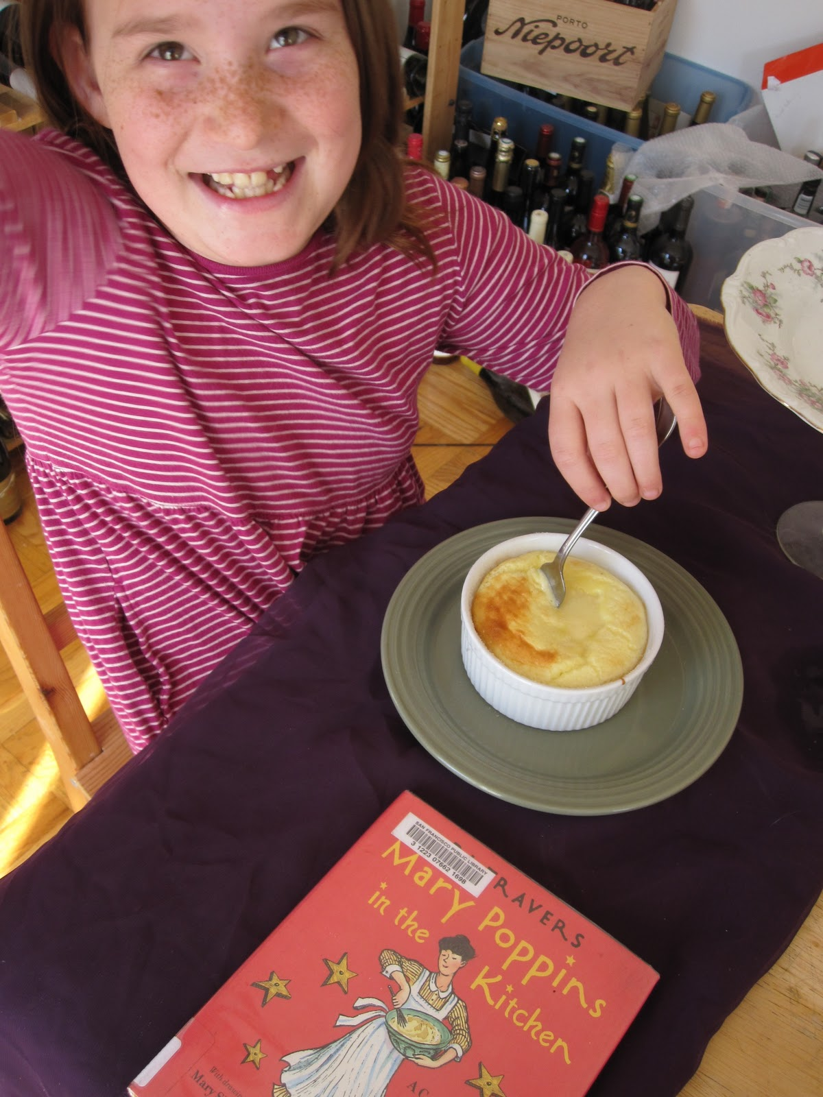 Wonderful Cooking The Books With K: Mary Poppins In The Kitchen Lemon Souffle