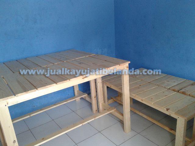 meja kursi bahan kayu jati belanda