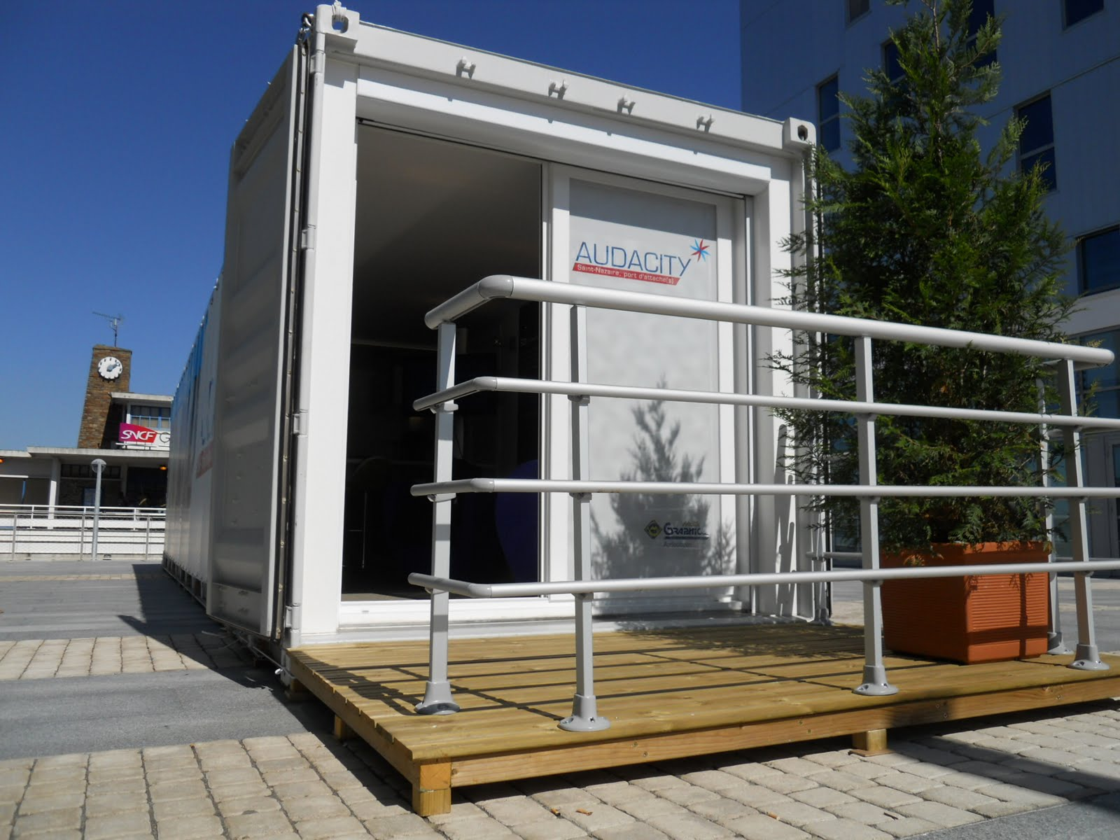 Maison container module container etudiant 40ft for Prix container habitable