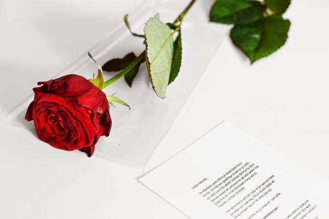 Zalando, red rose, valentine, love letter, present, gift