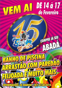 Bloco Ginga Samba - 15 Anos