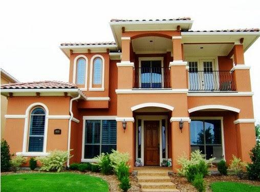 inspirasi warna eksterior rumah